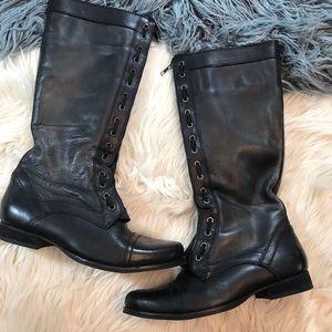 Bronx leather combat boots